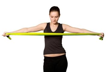 Bild von Fitnessbänder *Kintex* - dünn, Farbe: gelb