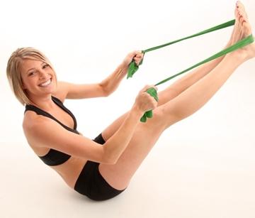 Bild von Fitnessbänder *Kintex* - stark, Farbe: grün