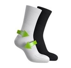 Bild von FussGut® Sprunggelenk Socke schwarz Gr. 40-42