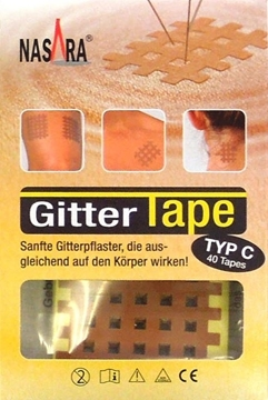 Bild von Nasara® Gitter Tape Typ C (5.2x4.5cm) - 40 Stk