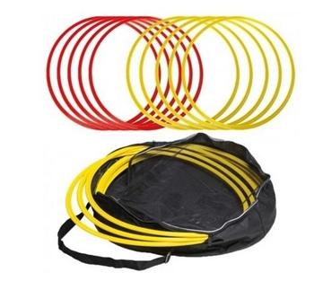 Bild von Koordinationsring 50cm, Farbe: rot - 1 Set à 8 Stk mit Tasche