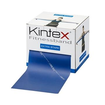 Bild von Kintex Fitnessband Bulk Rolle 25m - blau extra stark