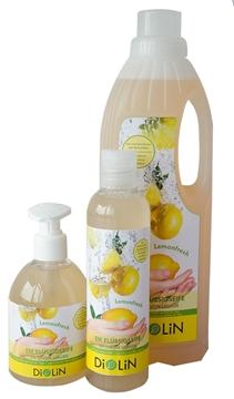 Bild von DiOLiN EM Flüssigseife Lemonfresh 1 Liter Nachfüllflasche
