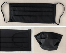 Bild von Mundschutz aus Baumwolle, schwarz (1 Stk) - S