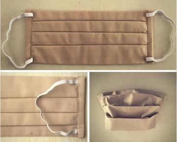 Bild von Mundschutz aus Baumwolle, beige (1 Stk) - L