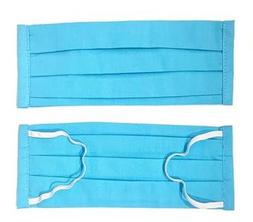 Bild von Mundschutz aus Baumwolle, blau (1 Stk) - S